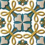 De naadloze van het de decoratie retro patroon van het hulpbeeldhouwwerk kromme dwarsf royalty-vrije illustratie