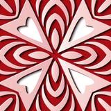 De naadloze van het de decoratie retro patroon van het hulpbeeldhouwwerk kromme dwarsg stock illustratie
