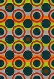 De naadloze vector geometrische achtergrond van het cirkelspatroon in uitstekende kleuren vector illustratie