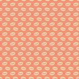De naadloze vector herhaalt patroon van gestreepte de herfstbladeren Mooi het ontwerpideaal van het oppervlaktepatroon voor stof, stock illustratie
