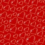 De naadloze vector van harten Stock Fotografie