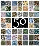 De naadloze Vector van het Camouflagepatroon stock illustratie