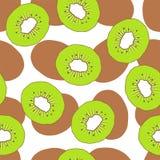 De naadloze vectorachtergrond van het kiwifruit Royalty-vrije Stock Foto's