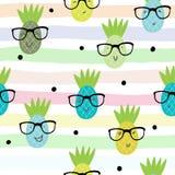 De naadloze Vectorillustratie van het ananaspatroon stock illustratie