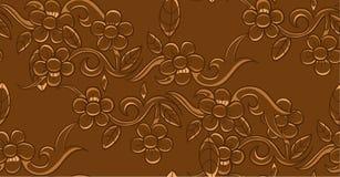 De naadloze vectorillustratie van het bloempatroon Stock Foto's