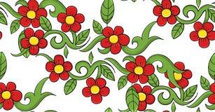 De naadloze vectorillustratie van het bloempatroon Royalty-vrije Stock Afbeelding
