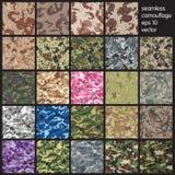 De naadloze Vectorillustratie van het Camouflagepatroon Stock Foto's