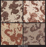 De naadloze Vectorillustratie van het Camouflagepatroon royalty-vrije illustratie