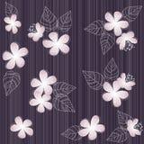 De naadloze violette achtergrond van het bloempatroon Stock Afbeeldingen