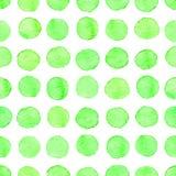 De naadloze waterverf stippelt patroon Stock Afbeeldingen