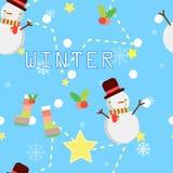 De naadloze winter herhaalt patroon vector illustratie
