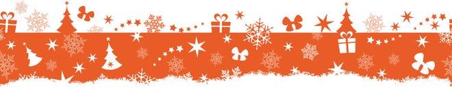 De naadloze winter, Kerstmisgrens Stock Fotografie