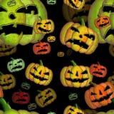 De naadloze zwarte tegel van Halloween Stock Foto