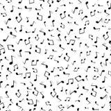 De naadloze zwarte van patroonmuzieknoten op whitebckgraund Vector patroon Stock Foto