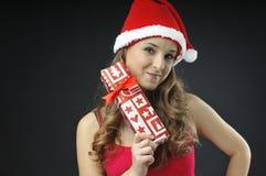 De naakte meisje behandelde giften van Kerstmis Royalty-vrije Stock Foto