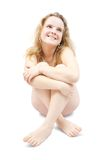 De naaktheidmeisje van de blonde Stock Fotografie