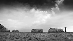 De naalden, het Eiland Wight Stock Afbeeldingen