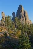 De Naalden, rotsen in Custer State Park royalty-vrije stock fotografie