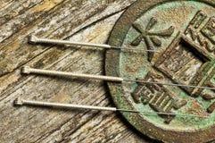 De naalden van de acupunctuur Royalty-vrije Stock Afbeelding