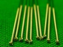 De naalden van de acupunctuur Stock Foto