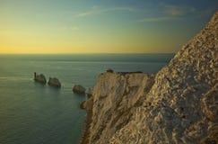 De Naalden van het Eiland Wight Stock Fotografie