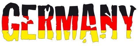 De naam en de vlag van Duitsland Royalty-vrije Stock Afbeeldingen
