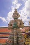 De naam Todsakan van de demonbeschermer in Wat Phra Kaew Grand Palace Bangkok Stock Afbeelding