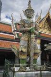 De naam van de demonbeschermer mang-korn-Khan in Wat Phra Kaew Grand Palace Bangkok Stock Afbeeldingen