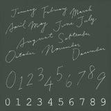 De naam van de kalendermaand Royalty-vrije Stock Foto