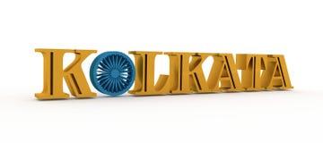 De naam van de Kolkatastad met vlagkleuren gestileerde brief O Royalty-vrije Stock Fotografie