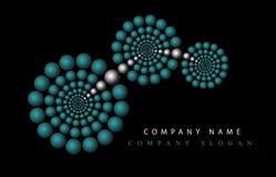 De naam van Logotype op zwarte achtergrond vector illustratie