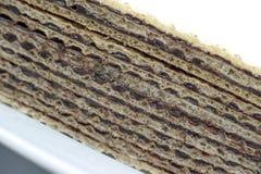 De naar huis gemaakte close-up van het chocoladewafeltje royalty-vrije stock afbeeldingen