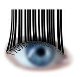 De nabijheid van ogen vector illustratie