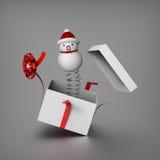 De nabootsers Jack van de sneeuwman in de doos Royalty-vrije Stock Foto's