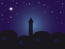 De nacht Bethlehem van Backround stock illustratie