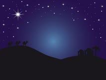 De nacht Bethlehem van Backround Royalty-vrije Stock Afbeeldingen