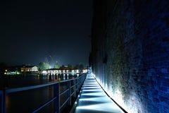 De nacht boven het overzees van †‹â€ ‹Venetië Royalty-vrije Stock Fotografie