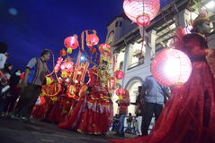De Nacht Carnaval 2017 van Semarang Stock Fotografie