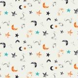 De nacht en de maan van het patroon Royalty-vrije Illustratie