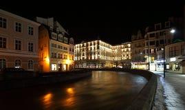 De nacht Karlovy vari?ërt stock foto's