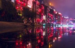 De nacht lichte scène 3 van de Zhenyuan oude stad Royalty-vrije Stock Foto's
