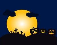 De nacht op holloween dag Stock Afbeelding