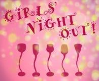 De nacht uit achtergrond van meisjes Stock Foto