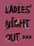 De Nacht uit Uitnodiging van dames royalty-vrije illustratie