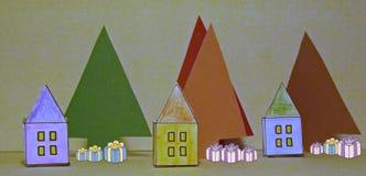 De nacht vóór Kerstmis Stock Illustratie