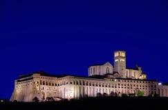 De nacht van Assisi Royalty-vrije Stock Foto's