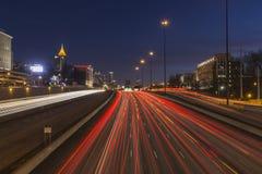 De Nacht van Atlanta stock foto's
