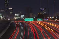 De Nacht van Atlanta Interstae 85 stock afbeeldingen