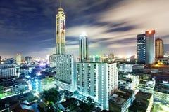 De nacht van Bangkok royalty-vrije stock foto