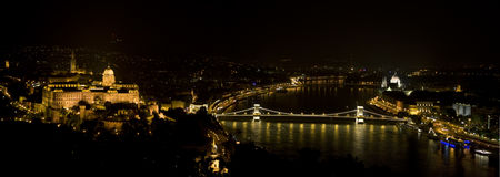 De nacht van Boedapest Royalty-vrije Stock Afbeelding